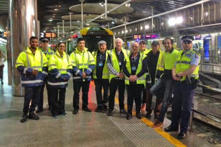Operation 48 2015 - Combined Patrollers & Police at Britomart Railway Station