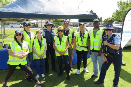 Police superintendent karyn malthus with patrollers