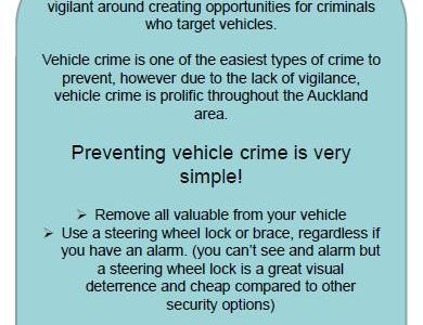 Preventing vehicle crime